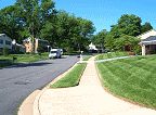 Streets with sidewalks