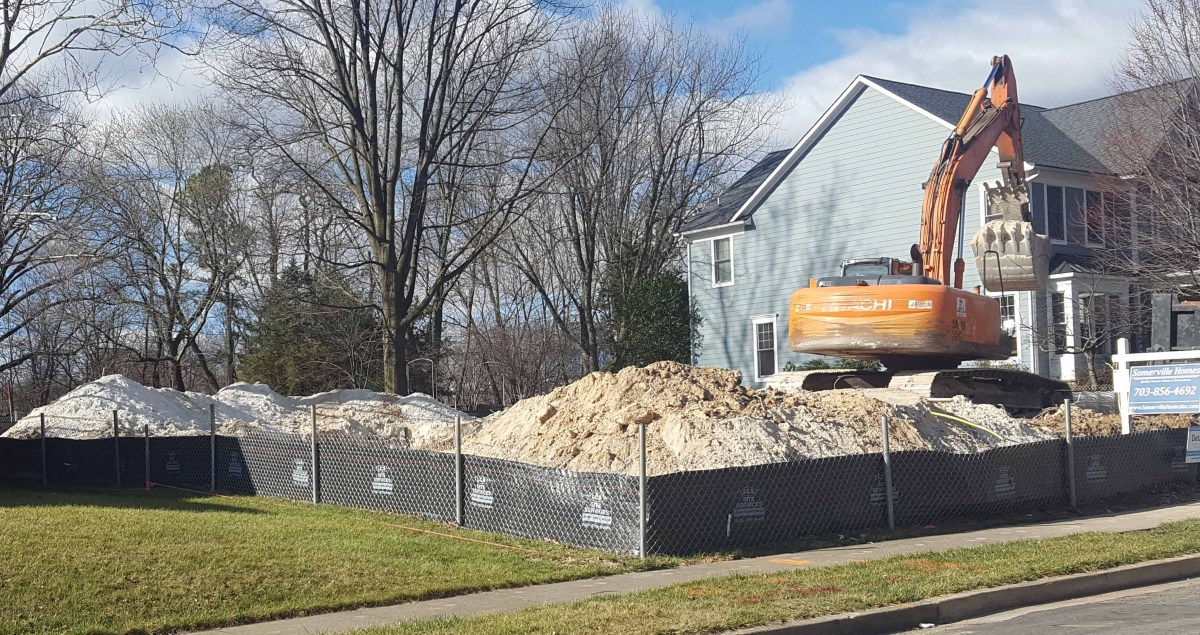 New construction underway at 8201 Dunsinane Court