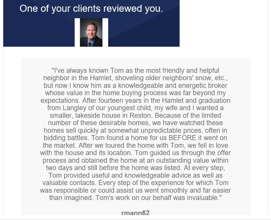 Zillow Review Posted by Hamlet Resident