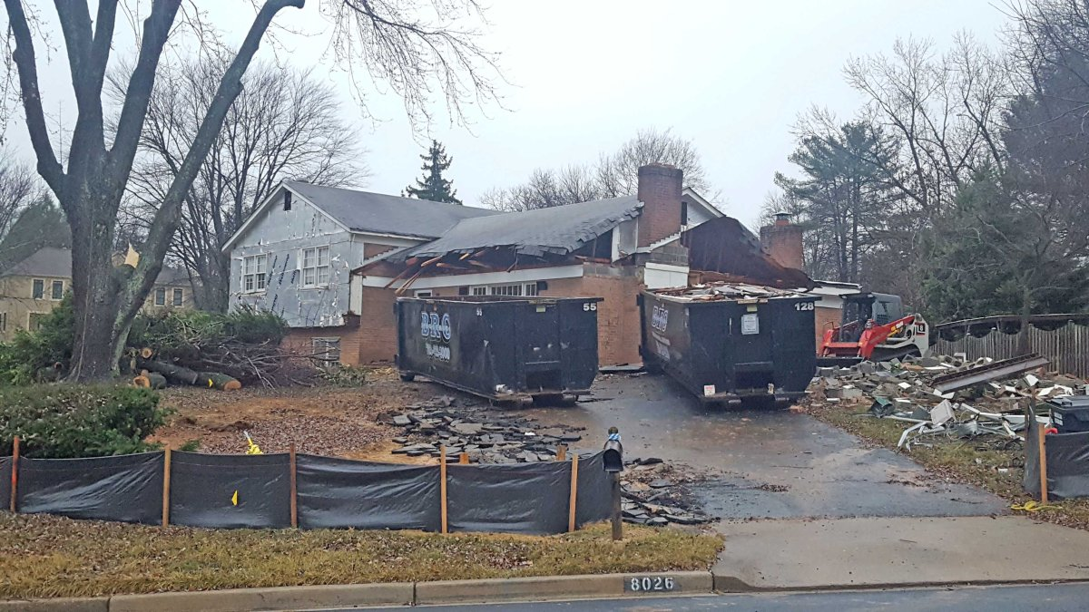 Demolition of 8026 Birnam WoodDrive