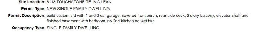 8113 Touchstone Terrace permit info