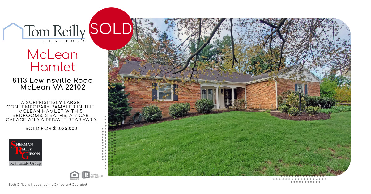 8113 Lewinsville Road Listed & Sold by TomReilly